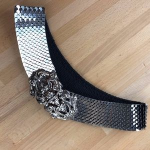 Vintage Metal Stretch Belt - Medium